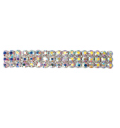 Crystal Aurora Borealis Barrette French Clip Small