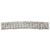 Crystal Barrette French Clip Large