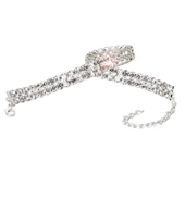 2-Row Crystal 10 Long Choker For Children