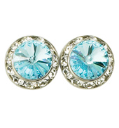 15mm Swarovski Aqua Performance Earrings Pierced