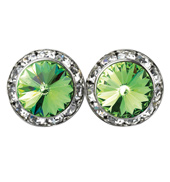 15mm Swarovski Peridot Performance Earrings Pierced