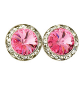 15mm Swarovski Rose Performance Earrings Clip-On
