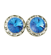 15mm Swarovski Sapphire Performance Earrings Clip-On