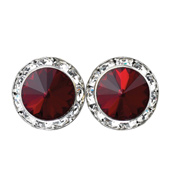 15mm Swarovski Siam Performance Earrings Clip-On