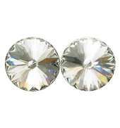 14mm Swarovski Crystal Simple Rivoli Earrings Clip-On