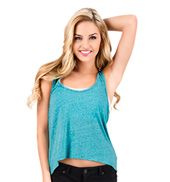 Adult Relaxed Fit Heather Hi-Lo Tank Top