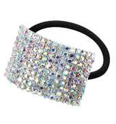 Crystal Aurora Borealis Cuff Ponytail Binders Large