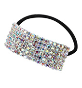 Crystal Aurora Borealis Cuff Ponytail Binders Small