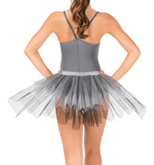 Tween Grey/Black Stiff Tulle Bustle
