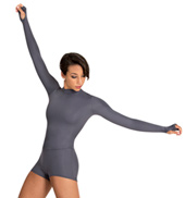 Adult Mock Neck Long Sleeve Biketard