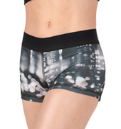 Girls Elastic Waistband Sublimated Shorts