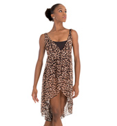 Adult Leopard Print Tank Lyrical Dress