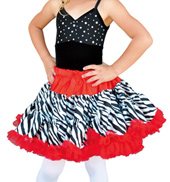 Child Zebra Petticoat Tutu