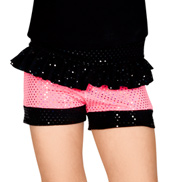 Child Sequin Dot Ruffle Waist Short