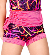 Child Pink Swirl Booty Ruffle Short
