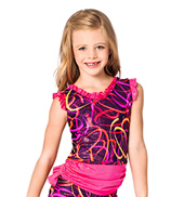 Child Pink Swirl Open Back Tank Top