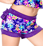 Child Flower Power Booty Ruffle Short