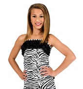Child Zebra Ruffle Top