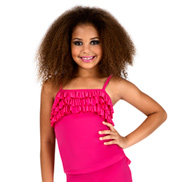 Child Pink Camisole Ruffle Top