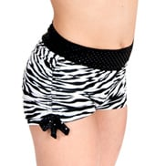 Girls Zebra Shorts with Side Tie