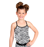 Girls Zebra Camisole Top