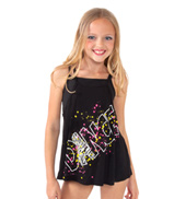 Girls Black Camisole Dance Top
