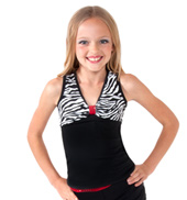 Girls Zebra Tank with Open Back