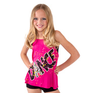 Girls Pink Camisole Dance Top