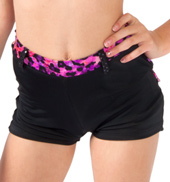 Girls Leopard Trim Shorts