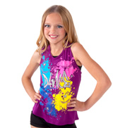 Girls Glitter Dance Tank in Berry