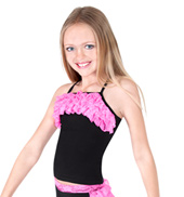 Girls Lace Ruffle Camisole Top