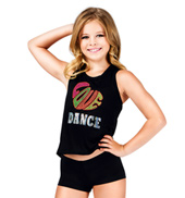 Girls Love Dance Racer Back Tank Top