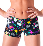 Girls Unicorn Printed Dance Shorts