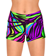Girls Zebra Dance Shorts