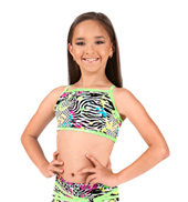 Girls Neon Splatter Print Camisole Bra Top