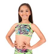 Girls Neon Splatter Print Camisole Bra Top