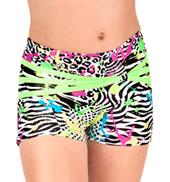 Girls Neon Splatter Print Dance Shorts