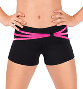 Girls Strappy Waist Dance Shorts