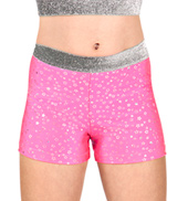 Girls Metallic Star Dance Shorts