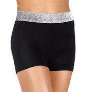 Girls Contrast Band Dance Shorts