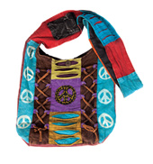 Assorted Print Patchwork Hobo Bag