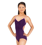Adult Kaileen Deep Plunge Twist Camisole Leotard