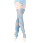 Adult Londrea Thigh High Striped Stirrup Legwarmers