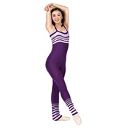 Adult Stripe Knit Overall