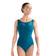 Adult Tank Swirl Mesh Open Back Leotard
