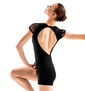 Adult Spliced Shoulder Cap Sleeve Leotard
