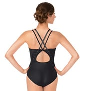 Adult Ambryn Spliced Twist Twin Strap Camisole Leotard