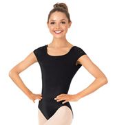 Adult Keola Spliced Twist Short Sleeve Leotard