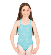 Girls Lace Cross Back Camisole Leotard