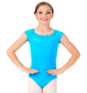 Girls Suzy Lace Short Sleeve Leotard